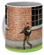 Belgian Infantrists Under Attack Coffee Mug by Luc De Jaeger