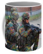 Belgian Infantry Soldiers In Training Coffee Mug by Luc De Jaeger
