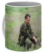 Belgian Paratroopers Red Berets Coffee Mug by Luc De Jaeger