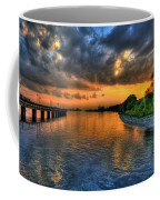 Sunset At Belle Isle Pier Detroit Mi Coffee Mug