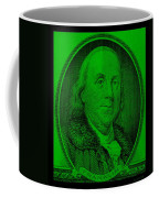 Ben Franklin In Green Coffee Mug