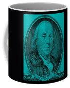 Ben Franklin In Turquois Coffee Mug