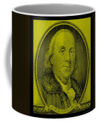 Ben Franklin In Yellow Coffee Mug