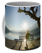 Bench And Sunset Coffee Mug