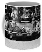 Bench Bums In Black And White Coffee Mug