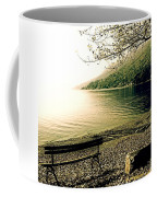 Bench In Autumn Coffee Mug by Joana Kruse
