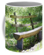 Bench Made Of Wood Coffee Mug