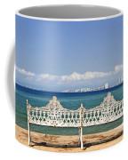 Bench On Malecon In Puerto Vallarta Coffee Mug