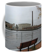 Bench With Industrial View Coffee Mug