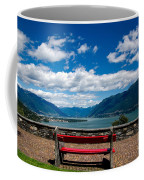 Bench With Panorama View Coffee Mug
