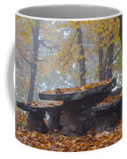 Benches And Table In Autumn Coffee Mug