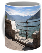 Benches On The Lake Front Coffee Mug