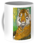Bengal Tiger With Green Eyes Coffee Mug by Jack Pumphrey