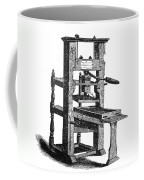 Benjamin Franklins Printing Press Coffee Mug