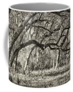Bent Trees Sepia Toned Coffee Mug
