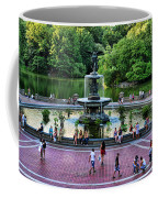Bethesda Fountain Overlooking Central Park Pond Coffee Mug by Paul Ward