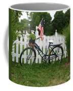 Bicycle And Picket Fence Coffee Mug