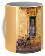 Bicycle And Window In France Coffee Mug