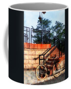 Bicycle By Train Station Coffee Mug