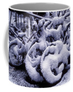Bicycles Covered With Snow Coffee Mug