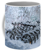 Bicycles In The Snow Coffee Mug