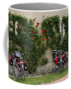 Bicycles Parked By The Wall Coffee Mug