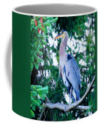 Big Bird - Great Blue Heron Coffee Mug