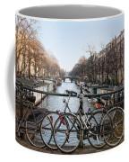 Bikes On The Canal In Amsterdam Coffee Mug