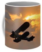 Biplane At Sunset Coffee Mug
