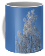 Birch In Frost. Coffee Mug
