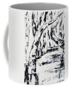 Birch Trees By The Brook Coffee Mug