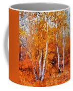 Birch Trees In Autumn Coffee Mug