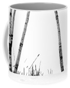 Birch Trees In Snow Coffee Mug