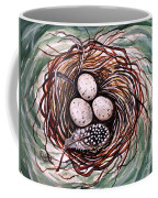 Bird Nest And A Feather Coffee Mug