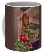 Birdhouse Morning Glories Two Coffee Mug