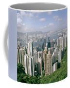 Birds Eye View Over Hong Kong Coffee Mug