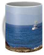 Birds Flying Over A Commercial Fishing Coffee Mug