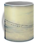 Birds On A Wire Polaroid Coffee Mug