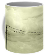 Birds On A Wire Tinted Coffee Mug