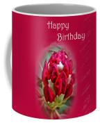 Birthday Card - Red Azalea Buds Coffee Mug