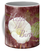 Birthday Greeting Card - Bindweed Morning Glory Coffee Mug
