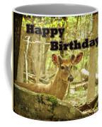 Birthday Greeting Card - Whitetail Deer Buck In Velvet Coffee Mug