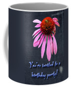 Birthday Party Invitation - Coneflower Coffee Mug