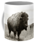 Bison And Calf Coffee Mug by Olivier Le Queinec