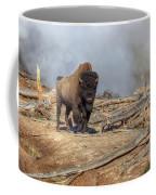Bison And Geyser Coffee Mug