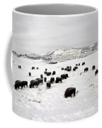 Bison Paw Away Snow With Head Coffee Mug
