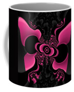 Black And Pink Fractal Butterfly Coffee Mug