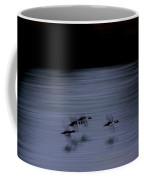 Black And White - Merganser Fliers Coffee Mug