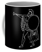 Black And White Ancient Greek Warrior Coffee Mug