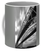Black And White Blue Water Bridge Coffee Mug
